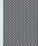 Děrovaný plech ocelový Rv 6-9, formát 1,0 x 1000 x 2000 mm