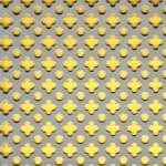 """Děrovaný plech ocelový """"tečka-křížek"""", formát 1,0 x 1000 x 2000 mm"""