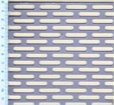 Děrovaný plech ocelový Lv 5 x 25, formát 1,0 x 1000 x 2000 mm