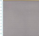 Děrovaný plech nerezový Rv 0,75-1,5, formát 0,6 x 1000 x 2000 mm