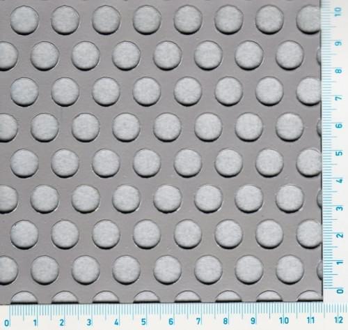 Děrovaný nerez. plech Rv 10-15 (tl.1,5 x 1000 x 2000)