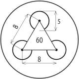 Děrovaný nerez plech Rv 5-8 (tl.1,5 x 1250 x 2500)-VÝPRODEJ