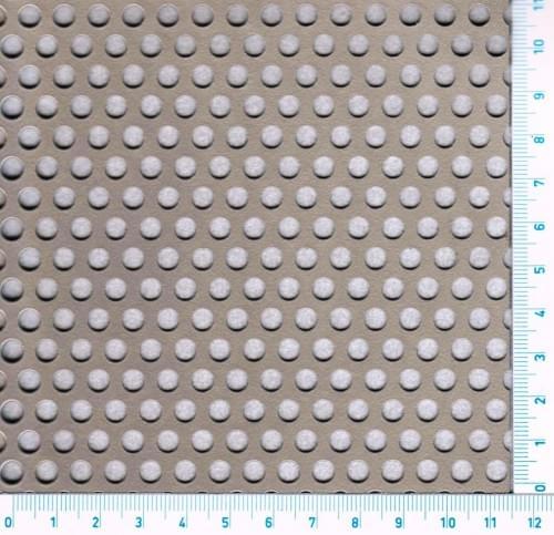 Děrovaný Nerezový plech 1.4301 - Rv / 5.00 / 8.00 / 1.00 x 1000 x 2000