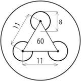Děrovaný Ocelový plech DC01 - Rv / 8.00 / 11.00 / 1.00 x 1000 x 2000