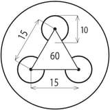 Děrovaný Ocelový plech S235JRG2 - Rv / 10.00 / 15.00 / 3.00 x 1000 x 2000