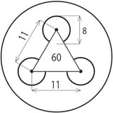 Děrovaný Ocelový plech DC01 - Rv / 8.00 / 11.00 / 3 x 1000 x 2000