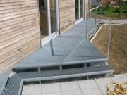 Podlahový rošt ocelový + žárový zinek 400 x 1000 mm - lisovaný