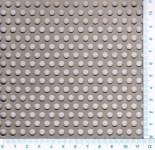 Děrovaný plech hliníkový Rv 5-8, formát 2,0 x 1000 x 2000 mm
