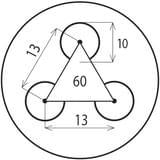 Děrovaný Ocelový plech DC01 - Rv / 10.00 / 13.00 / 1.00 x 1000 x 2000