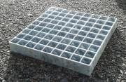 Podlahový rošt ocelový + žárový zinek 500 x 1000 mm - lisovaný