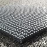 Podlahový rošt - ocel / 33.00 x 33.00 / 30.00 x 2.00 / 1000.0 x 1000.0